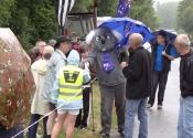 Koala meet and greet on a rainy day