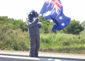 Koala at his first Tour de France 2009