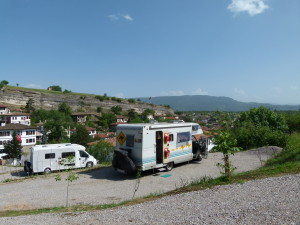 Our Terraced site in Safranbolu with agreat view over the town.