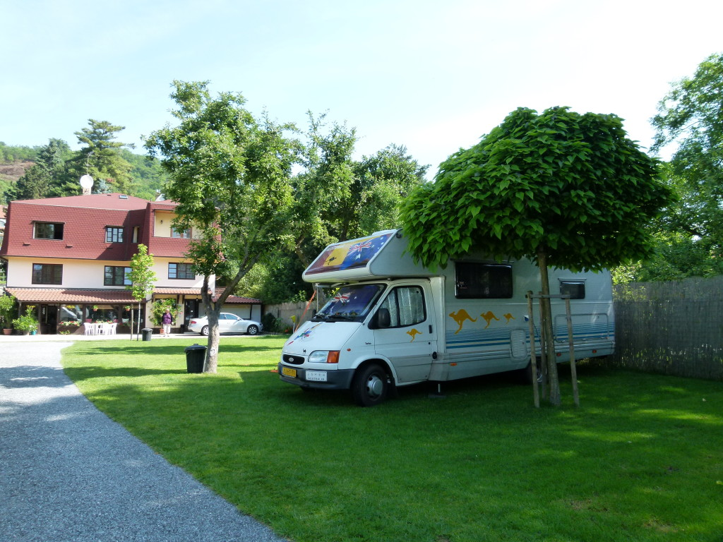 Our campsite at the Autocamp In Prague