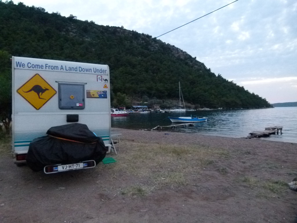 Our motorhome parked up in the bay for 4 days.