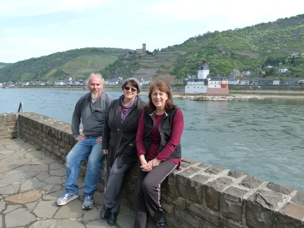 Our party of three sitting next to the Rhine. Photo taken by an American who lived in Adelaide for a year. [small world!]
