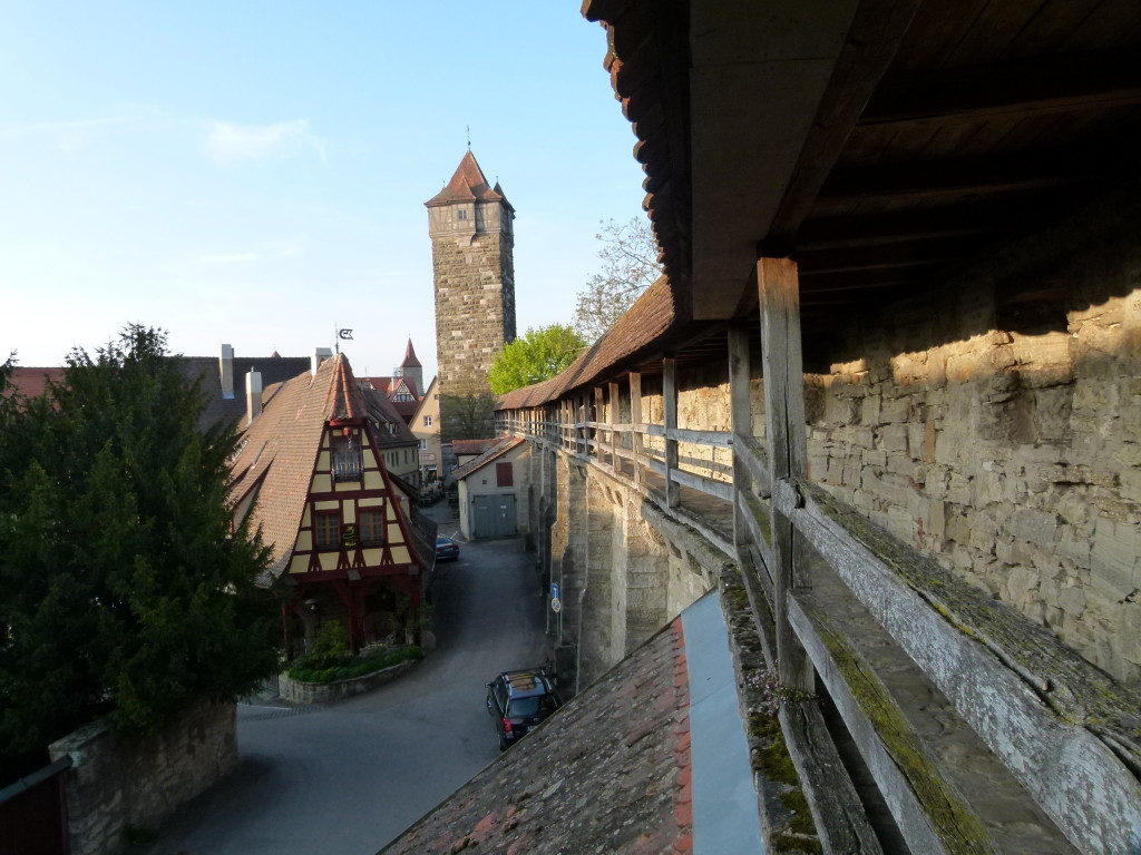 Walls around the old town. You could walk along some of them.