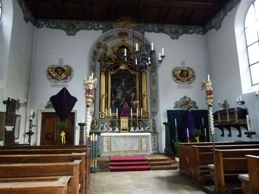 inside the church at the Fuggerei