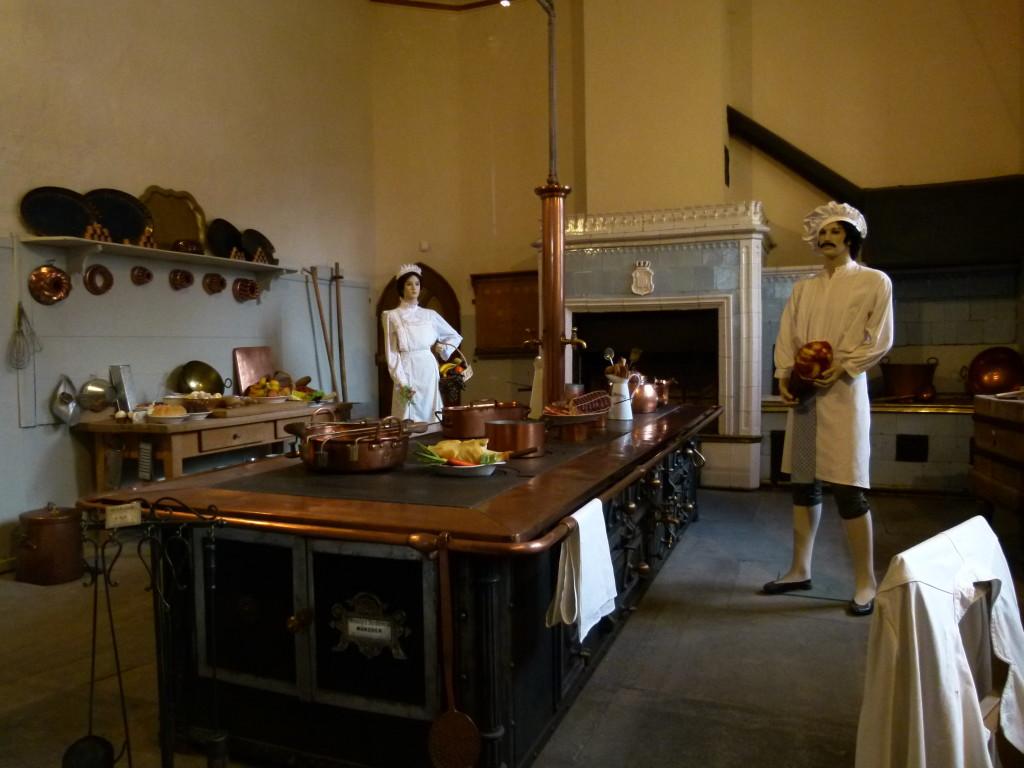Kitchen in the Hohenschwangau castle.