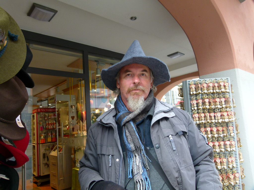 No I didn't this hat. Jenny thought that I looked like Gandolf.