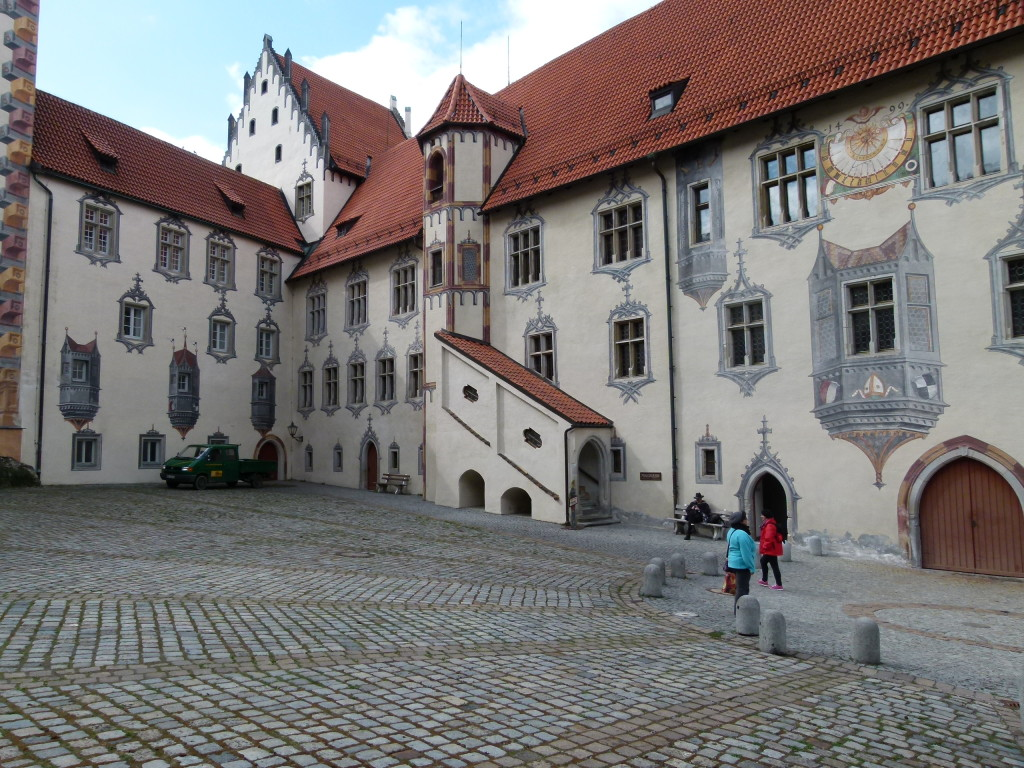 Courtyard of the bishops Palace Fussen.
