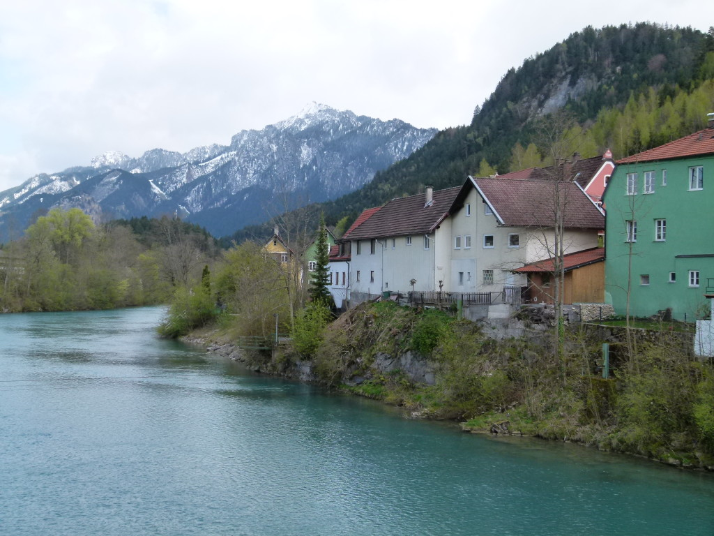 View along the river in Fussen.