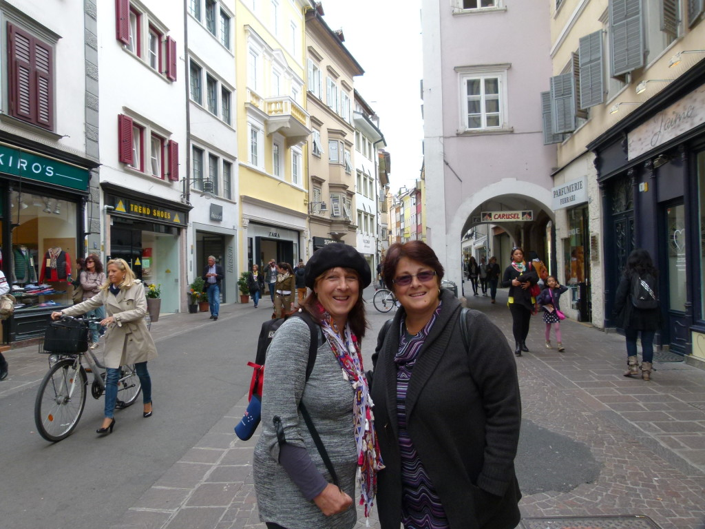 Jenny and Lori in Bolzano.
