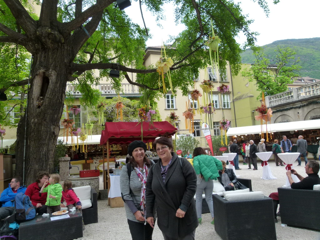In a market place in Bolzano.