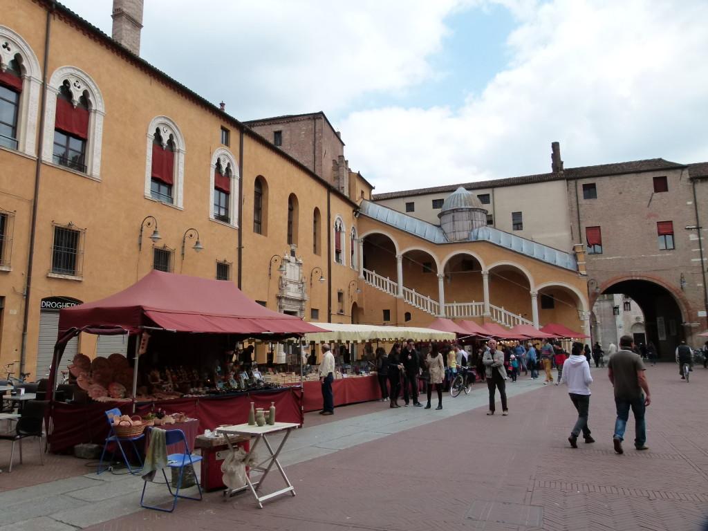 The markets in Ferrara.