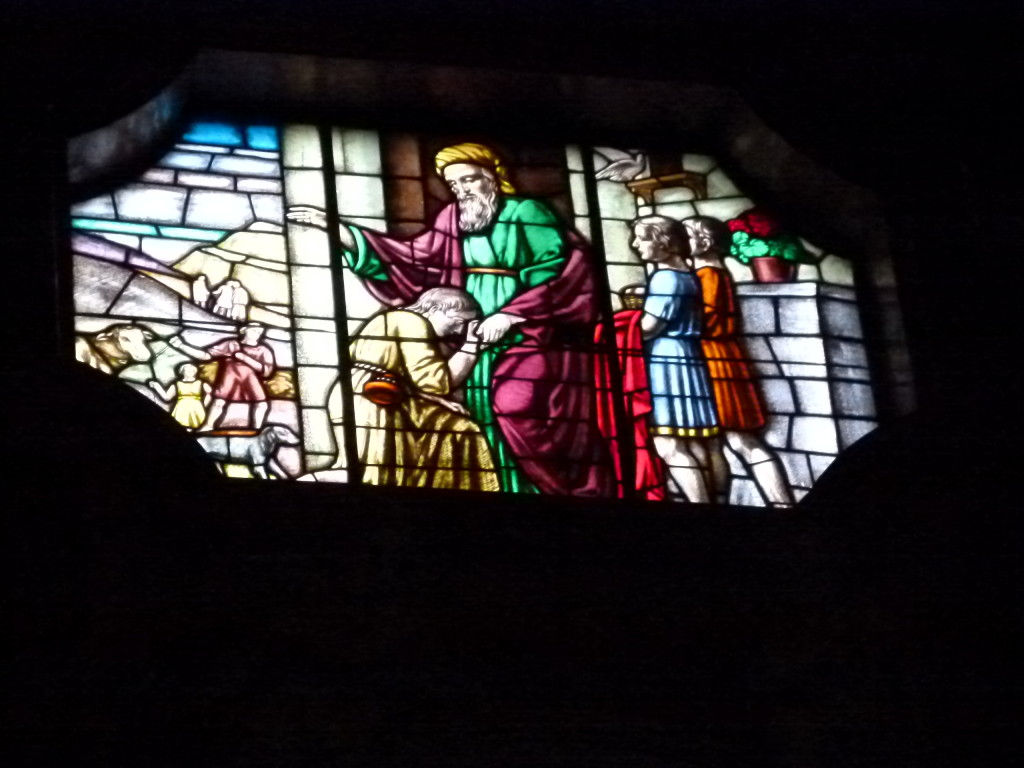 Stain Glass window in the main church.