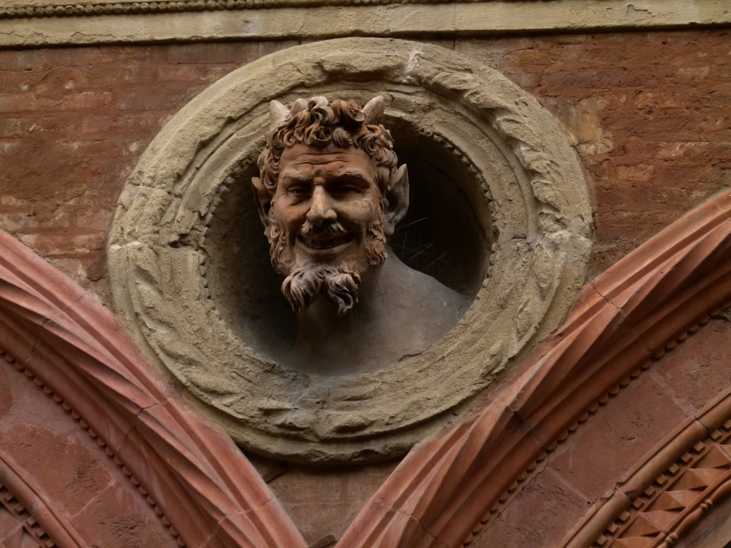 Just one of the interesting head sculptures that were on the side of the building.