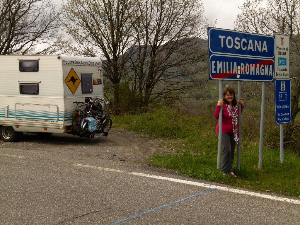 Tuscany sign, A tick off the bucket list for Lori
