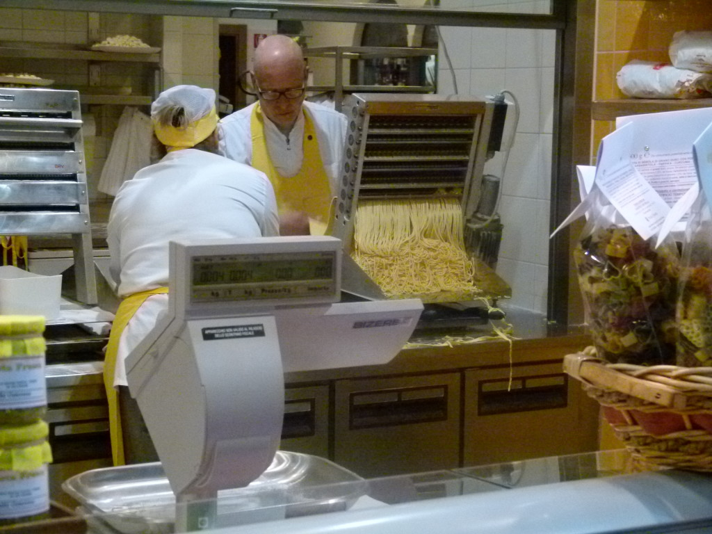 pasta making in the market