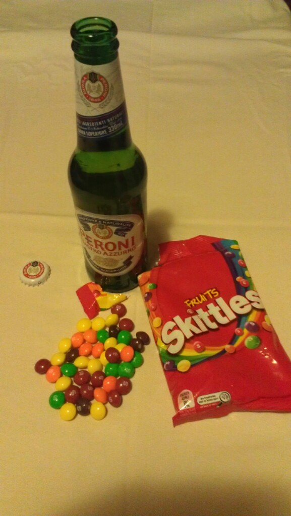 Beer and Skittles. Photo courtesy Lori Duffy