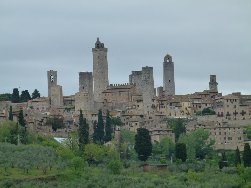 View from the road of San Gimignano.