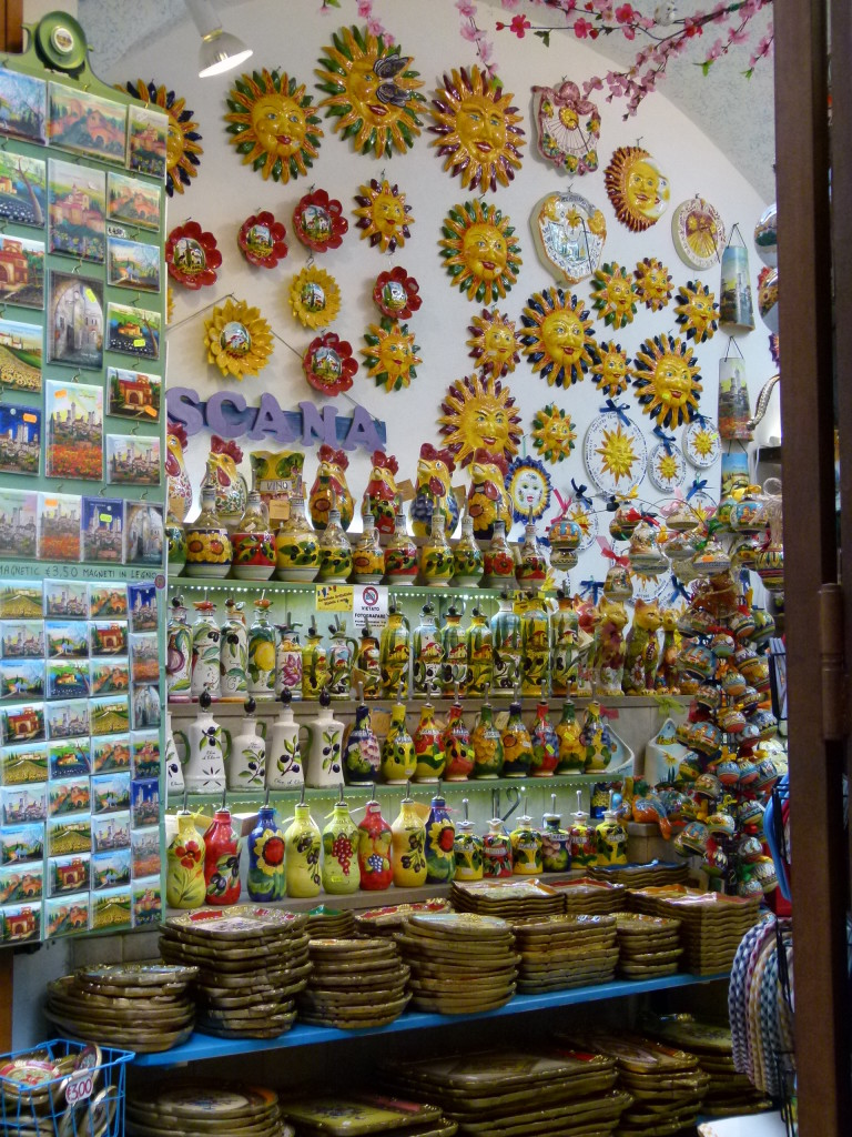 Colorful souvenir shop. It does say no photos but Jenny didn't see the sign until after the photo was made.