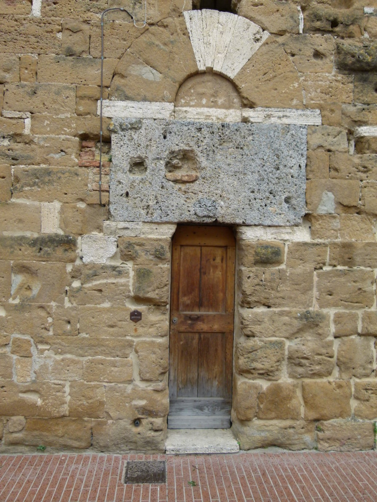 Small door , big lintel.