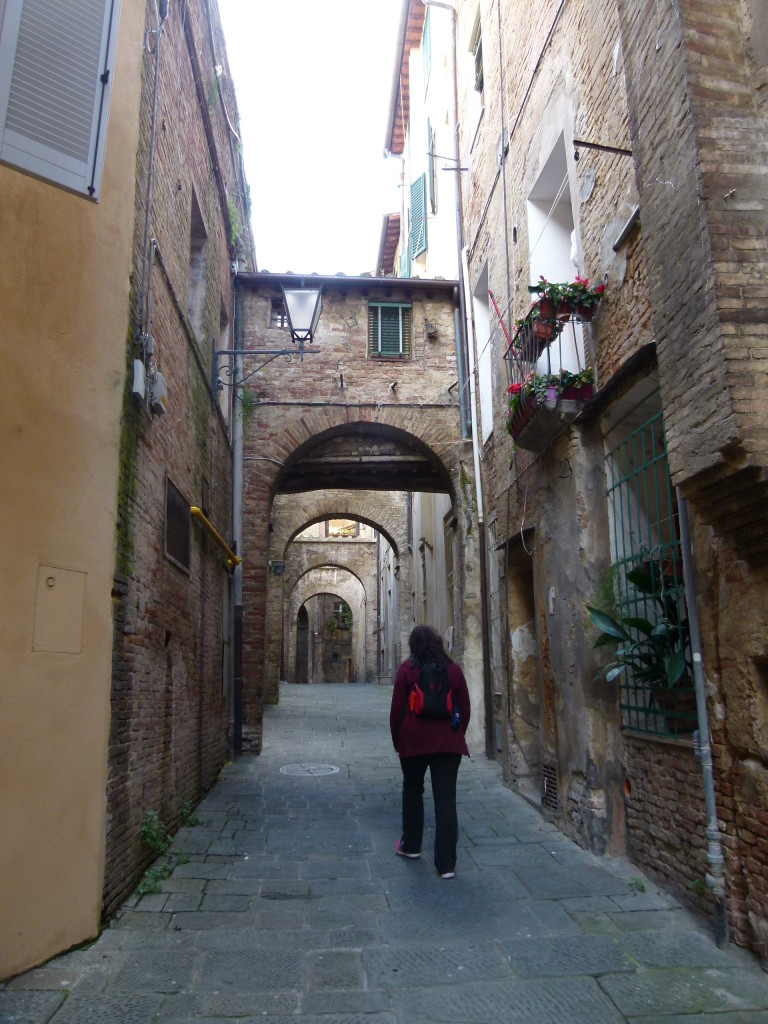 Walking the backstreets of Siena