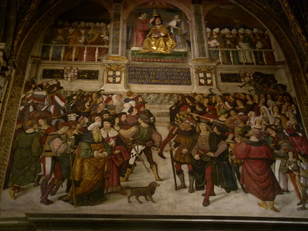 Renaissance artwork inside the cathedral