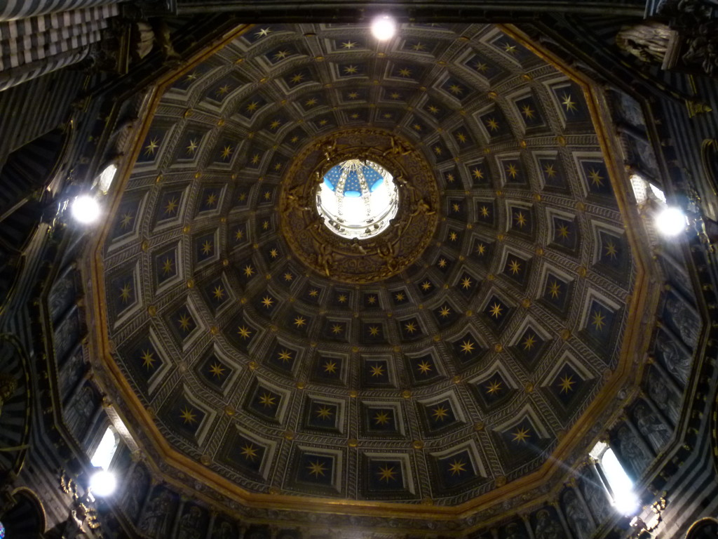 View looking up at the cathedral dome