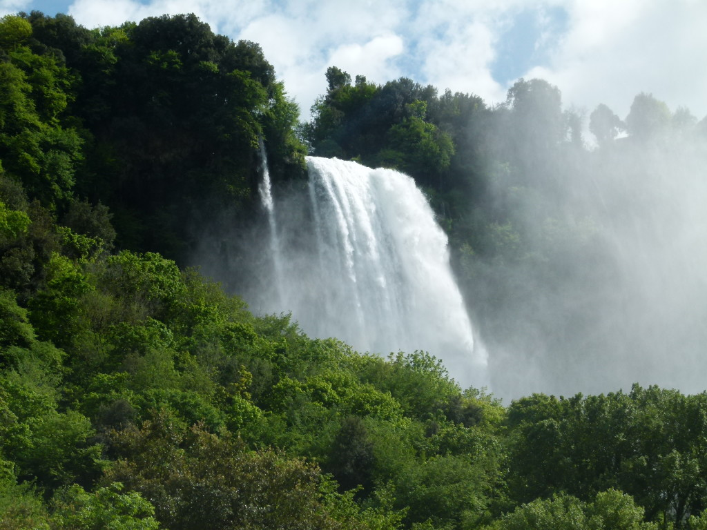 The waterfall we tried to go and see. This is a photo Jenny took from the road as we drove by.