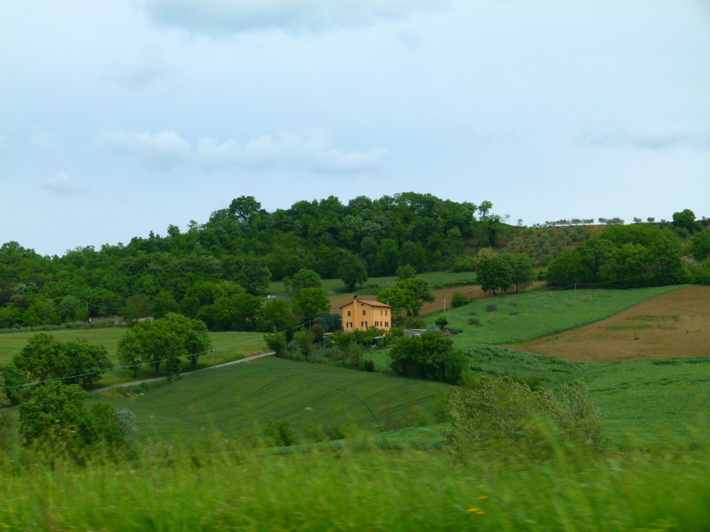 View taken as we were driving to Todi.