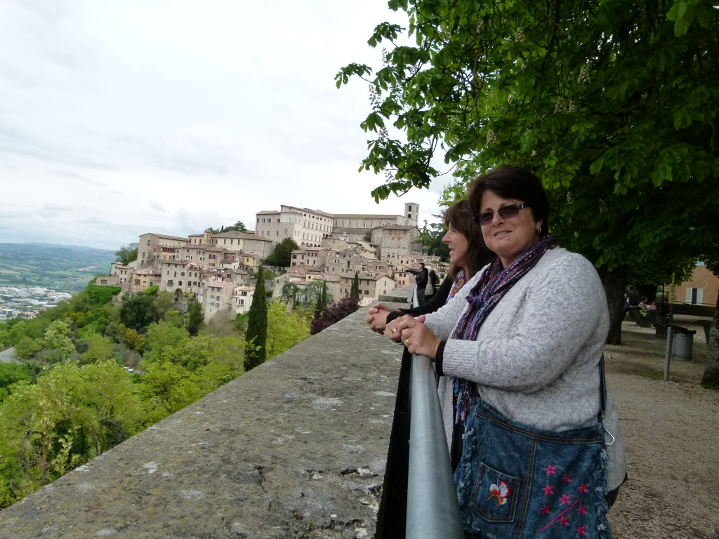 Hilltop lookout at Todi.