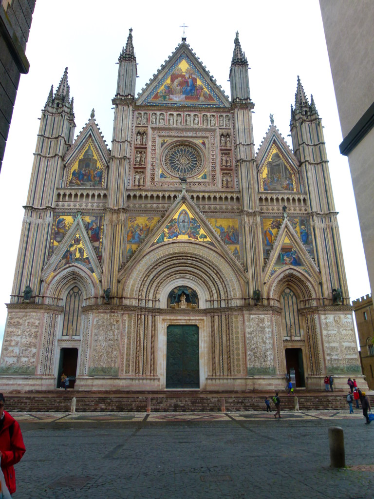 The church at Orvieto. We went inside but no photos were allowed to be made.