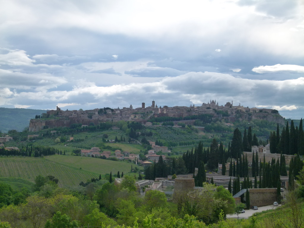 View of Orvieto from the lookout as we were driving towards Rome.