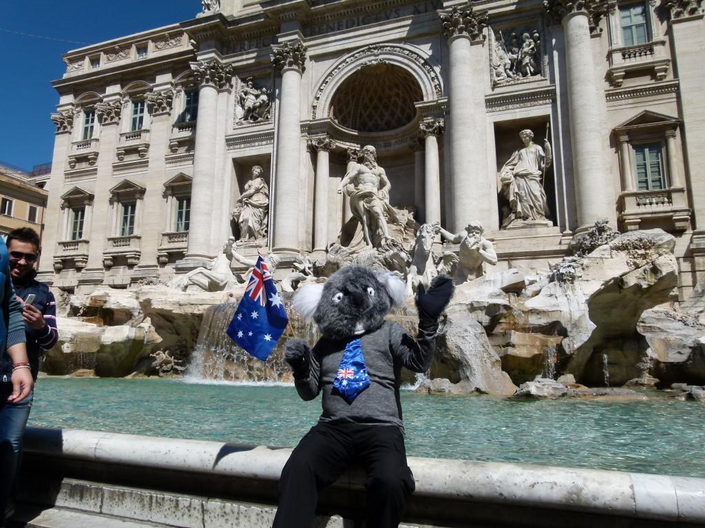 The Koala at the Trevi Fountain.