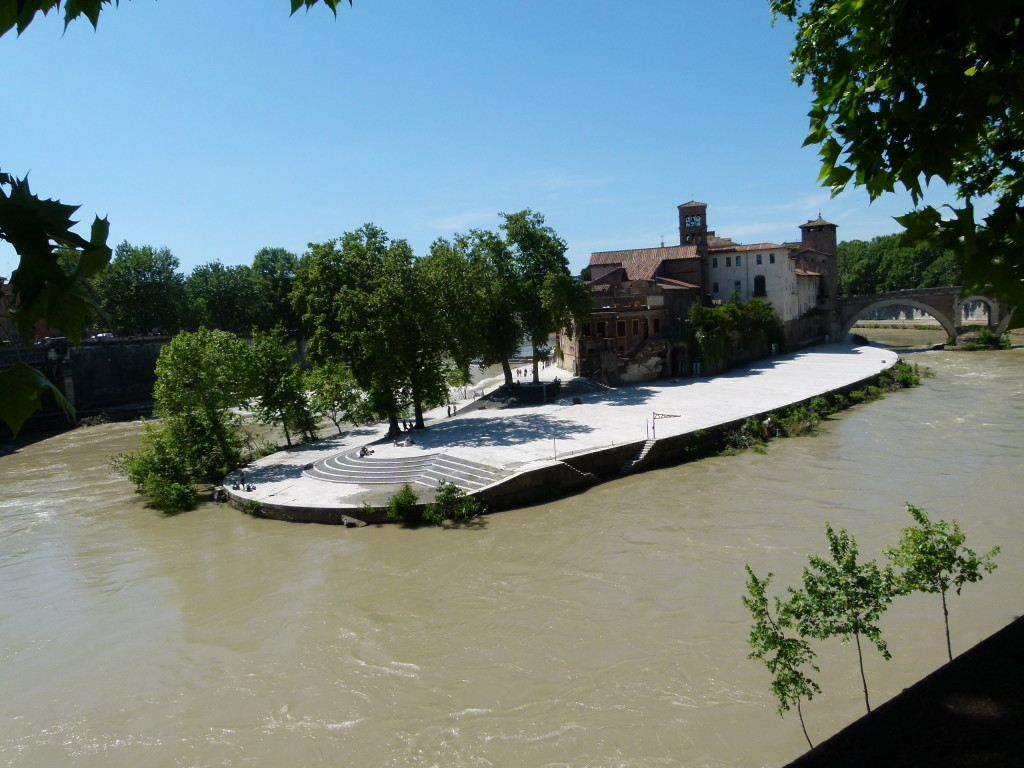 The island on the river Tiber.