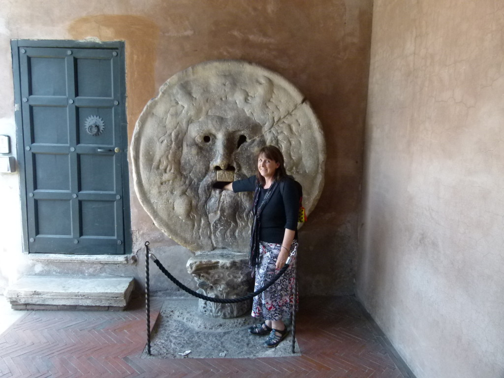 The mouth of truth. As seen in the film Roman Holiday.