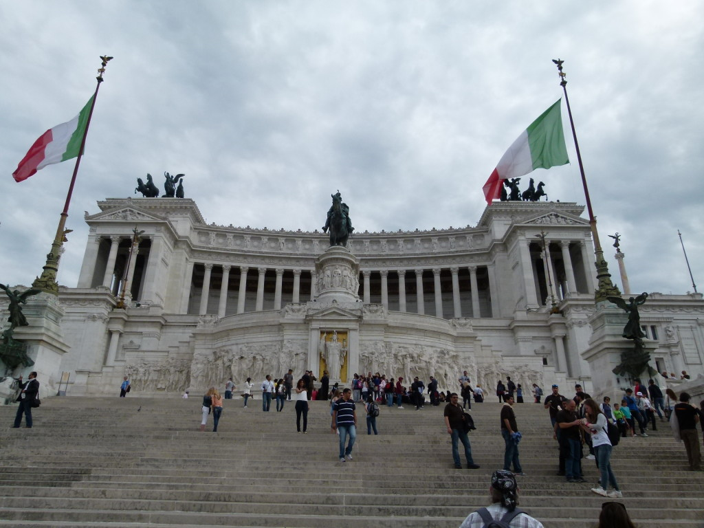 Monument to the first king of Italy, described by lonely planet as a big set of false teeth.