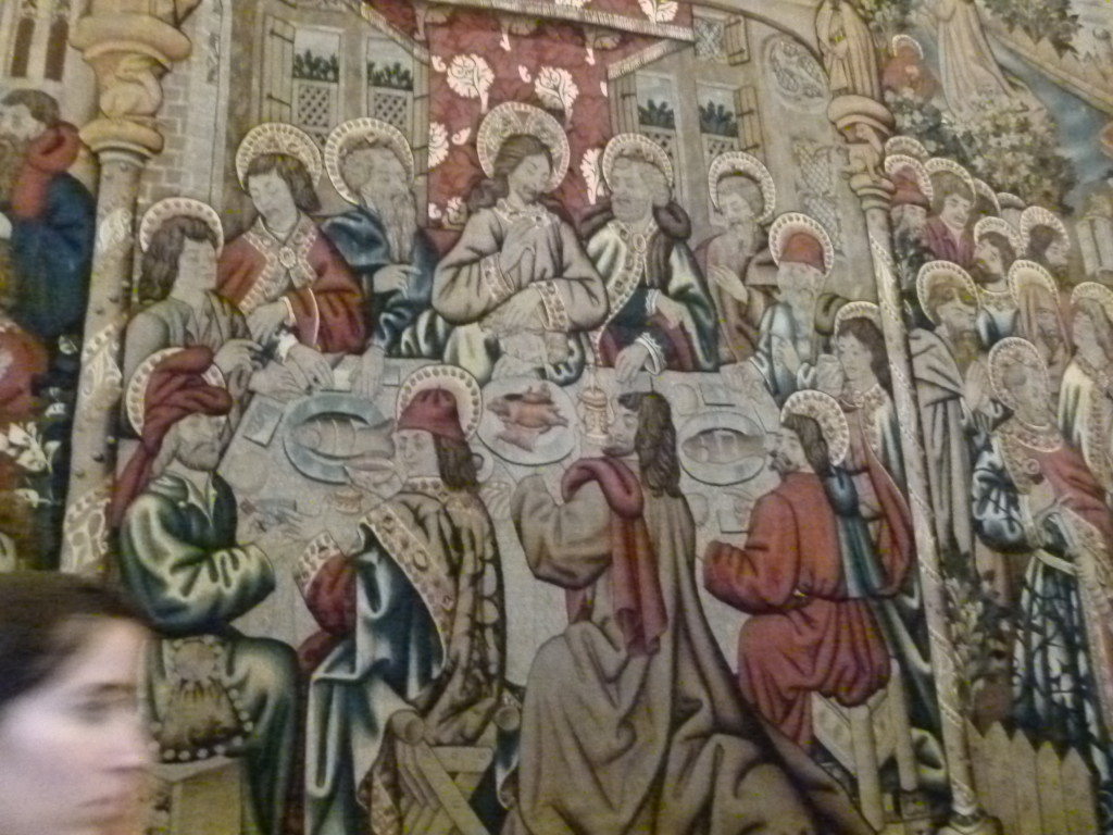 Tapestry of the last supper