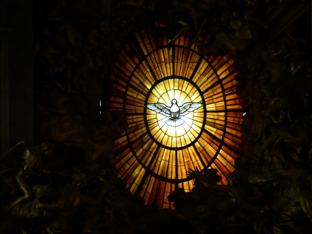 St Peters Basilica, Dove of Peace stained glass.
