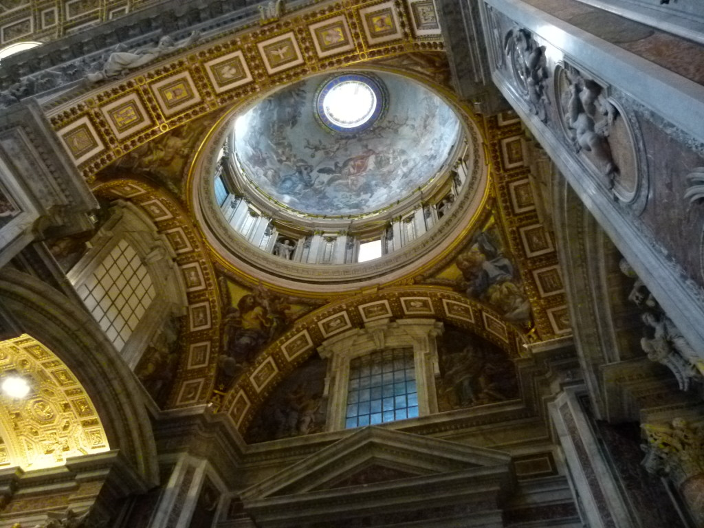 St Peters, more elaborate ceiling decoration