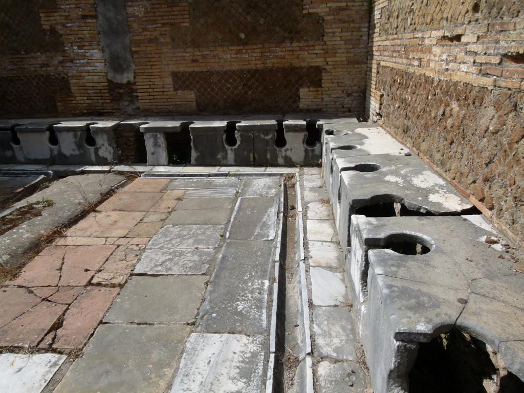 Communal toilet block. No doors between but it did have a separate men and ladies room.
