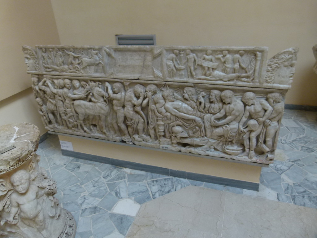 In the museum they had some interesting sarcophagi in excellent condition.