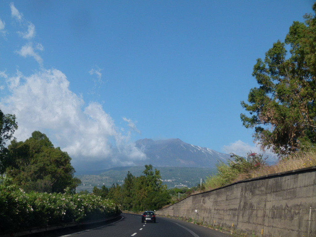 Driving into Sicily on the way south we drove past Mt. Etna.