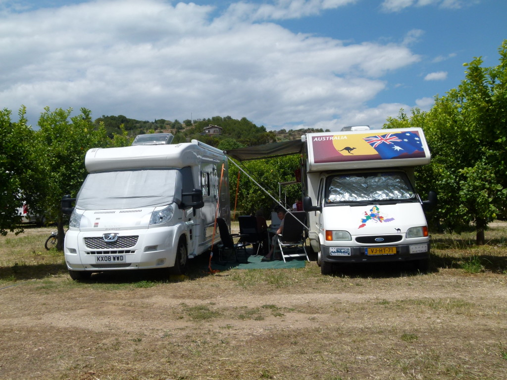 In the lemon grove at the camperstop. Jenny did pick a few for the road as did most of the other motorhomes .
