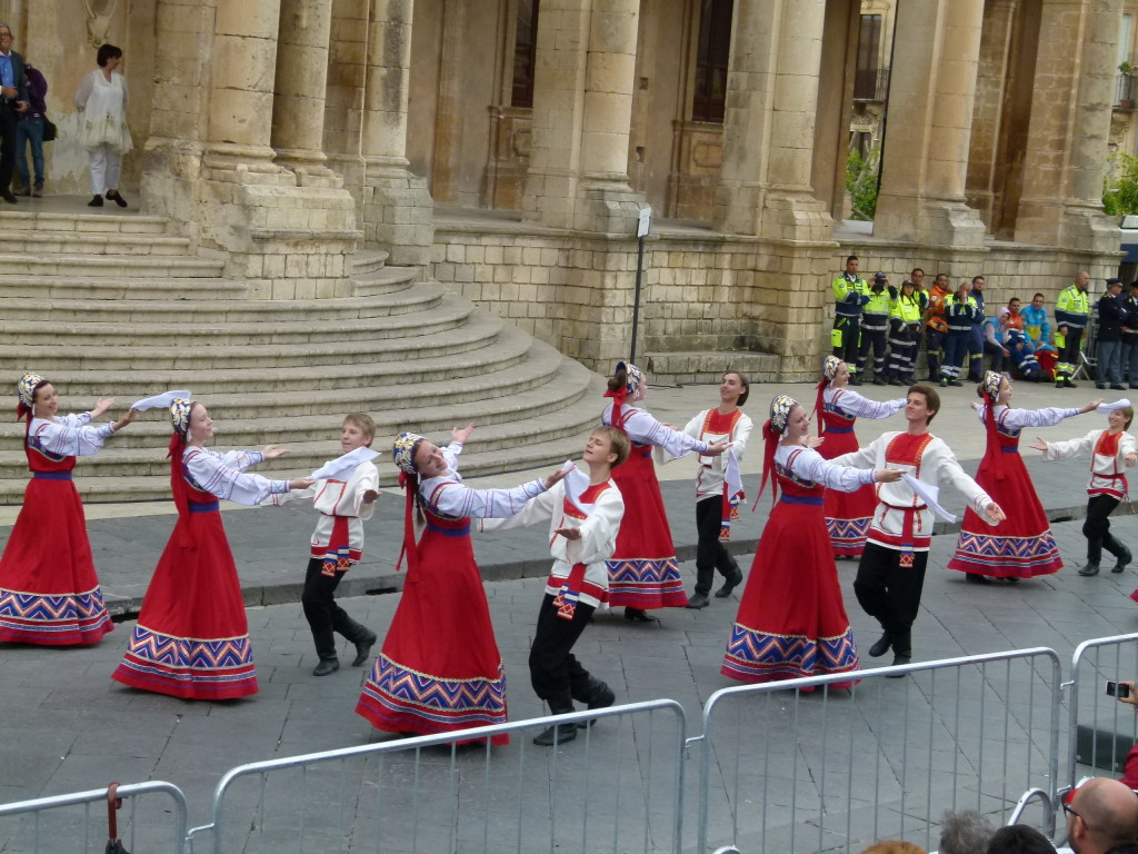 The Russian Dance group who entertained us while we were sitting on the hard steps in the crowd.