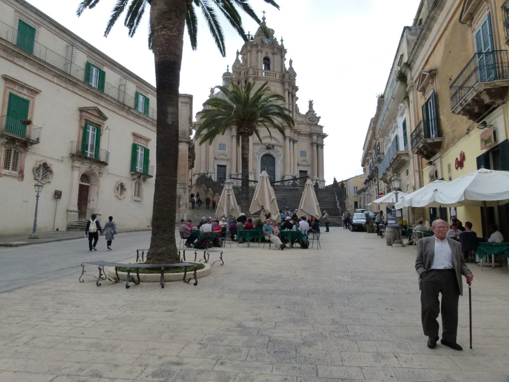 The main square in Ragusa where we had gelati and Clyde and Anna had coffee.
