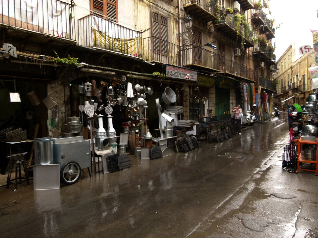The street where they made things out of metal in their small workshops.