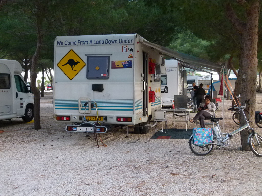 Our campsite at San Vito lo Capo. Very roomy pitches.