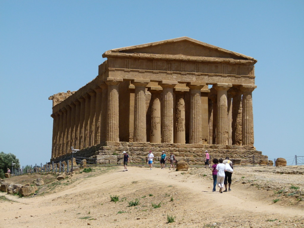 A temple that was intact at the Valley of the Temples , Agrigento
