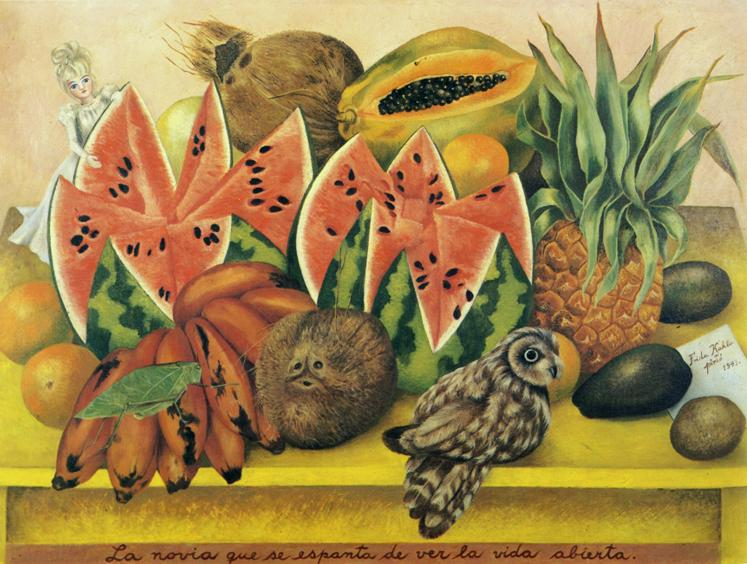 Another painting by Frida Kahlo. Source internet. We were not allowed to take photos while inside.