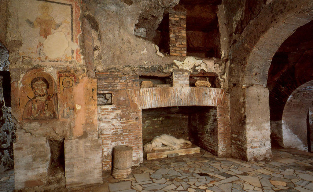 Inside the catacombs. These pictures are from the internet as we were not allowed to take photo's.