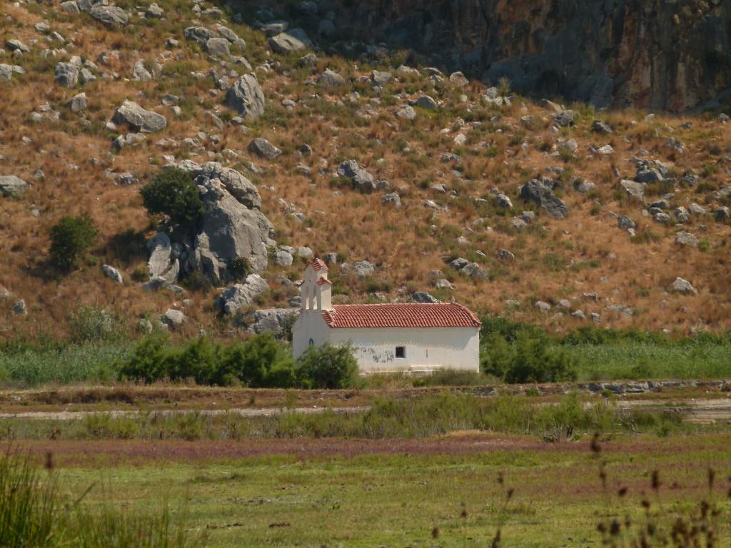 Small chapel by the lake at Kalogira